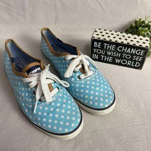 KEDS Polka Dot Canvas Sneakers Size 6.5